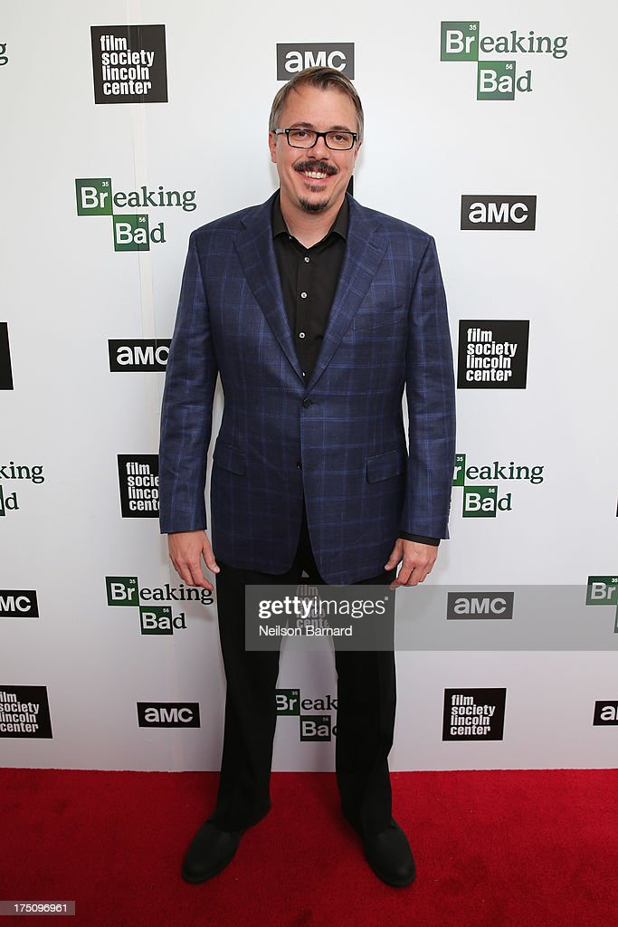 Creator and Executive Producer Vince Gilligan attends The Film Society of Lincoln Center and AMC Celebration of 'Breaking Bad' Final Episodes at The Film Society of Lincoln Center, Walter Reade Theatre on July 31, 2013 in New York City.
