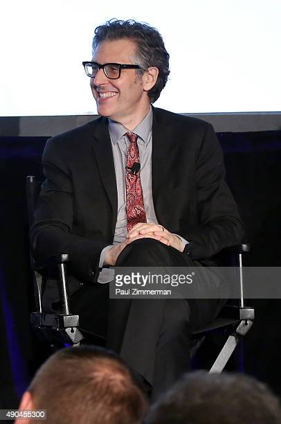 Creator and Host This American Life Ira Glass speaks onstage at the The On Demand Audio and Podcast Revolution Building Passionate Audiences And...