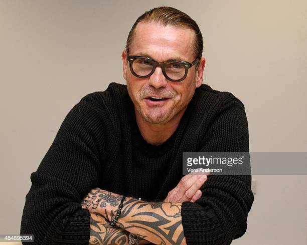 Creator Kurt Sutter at 'The Bastard Executioner' Press Conference at Dragon International Film Studios on August 19 2015 in Llanilid Wales