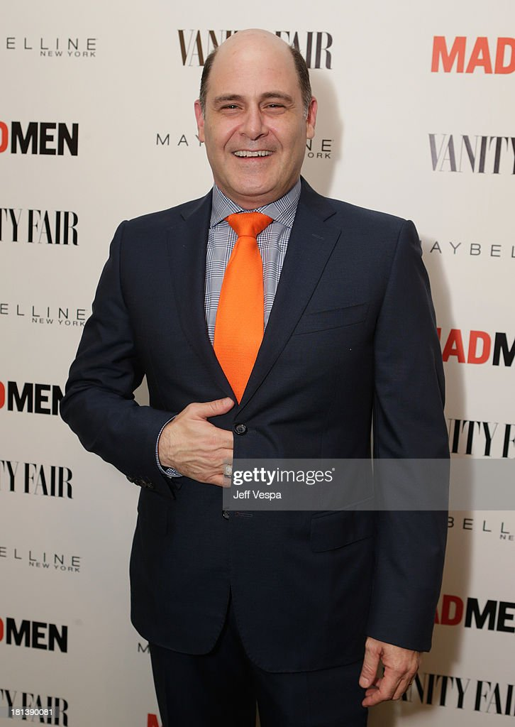 Creator <a gi-track='captionPersonalityLinkClicked' href=/galleries/search?phrase=Matthew+Weiner&family=editorial&specificpeople=4148376 ng-click='$event.stopPropagation()'>Matthew Weiner</a> attends Vanity Fair and Maybelline toast to 'Mad Men' at Chateau Marmont on September 20, 2013 in Los Angeles, California.
