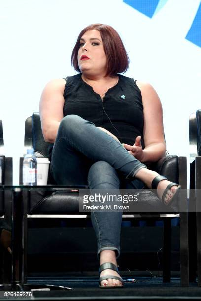 Creator of Amazon's 'Danger Eggs' Shadi Petosky speaks onstage during the 'Transgender Trends on TV Today Panel' portion of the 2017 Summer...