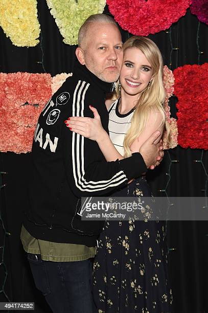 Creator of 'American Horror Story' Ryan Murphy and actress Emma Roberts attend as Teen Vogue and Aerie celebrate Emma Roberts November Cover at 58...