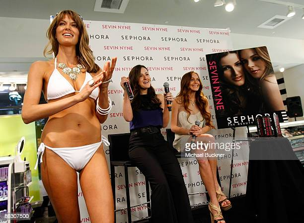Creator of Sevin Nyne Lorit Simon and actress Lindsay Lohan speak at the launch of Sevin Nyne By Lindsay Lohan held at Sephora on April 30 2009 in...