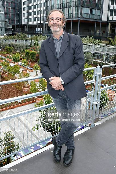 Creator of the 'Anamorphose' Anamorphosis Francois Abelanet attends the 'Jardins d'Orient' Exhibition at Institut du Monde Arabe on April 21 2016 in...
