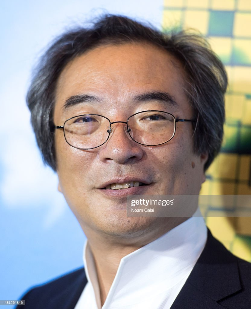 Creator of the arcade game PacMan Professor Toru Iwatani attends the 'Pixels' New York premiere at Regal EWalk on July 18 2015 in New York City