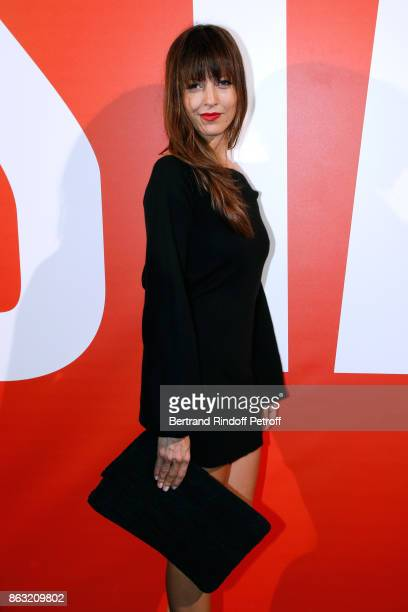 Creator of the brand Leetha Caroline Nielsen attends the Art Exhibition Reflexion Redux of Benjamin Millepied and Barbara Kruger at Studio des...