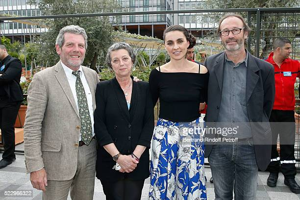 Creator of the Ephemere Garden Landscaper Michel Pena General Curator of the exhibition Sylvie de Pondt Exhibition Curator Agnes Carayon and Creator...