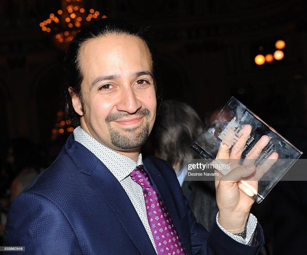 Creator of the hit Broadway play 'Hamiliton' 2015 MacArthur Foundation Award recipient and 2016 Pulitzer Prize Winner for Drama LinManuel Miranda...