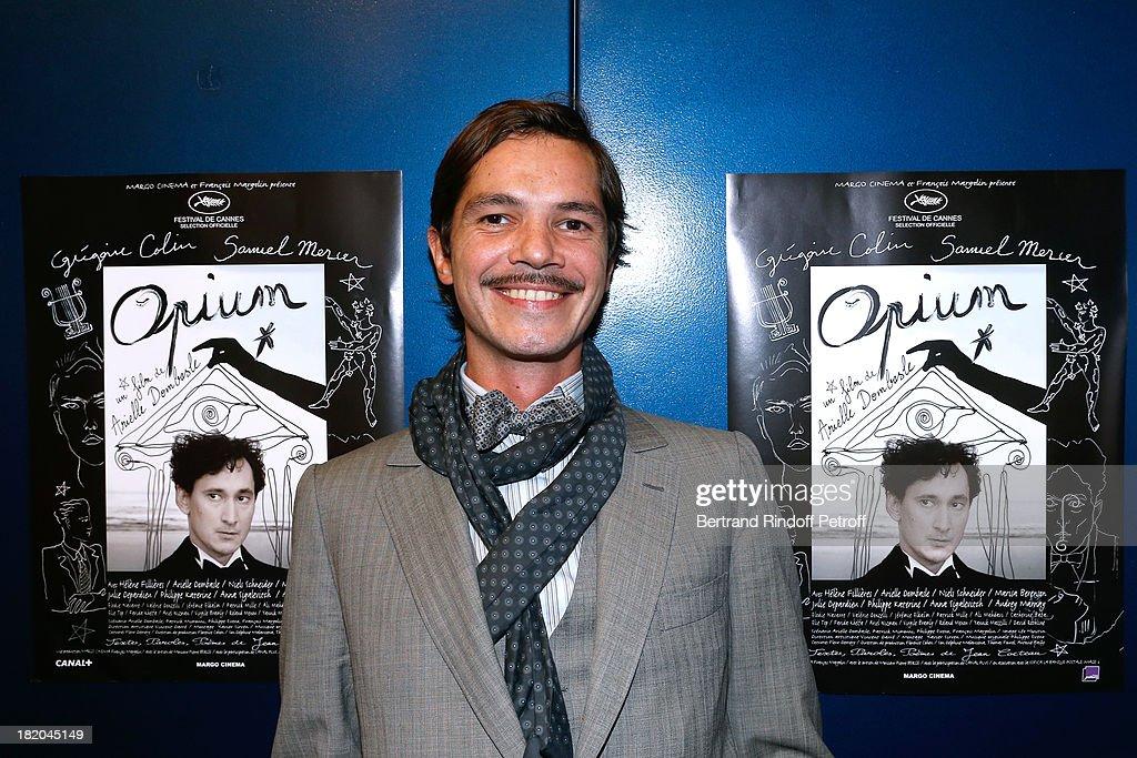 Creator of the poster of the movie Elie Top attends 'Opium' movie Premiere, held at Cinema Saint Germain in Paris on September 27, 2013 in Paris, France.