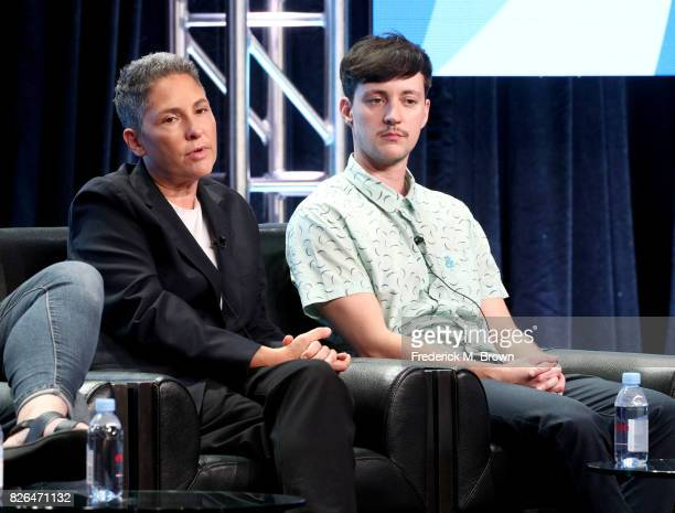 Creator of 'Transparent' and 'I Love Dick' Jill Soloway and producer on 'Transparent' Rhys Ernst speak onstage during the 'Transgender Trends on TV...
