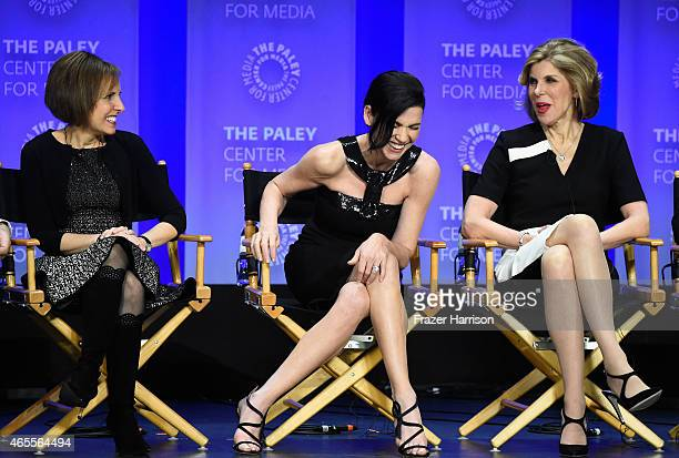 Creator/ producer Michelle King Julianna Margullies Christine Baranski on stage at The Paley Center For Media's 32nd Annual PALEYFEST LA 'The Good...