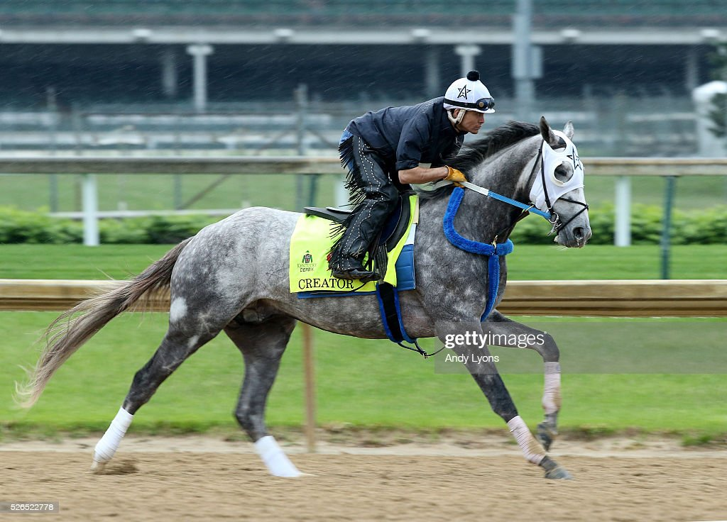 Creator runs on the track during the Morning training for the 2016 Kentucky Derby at Churchill Downs on April 30, 2016 in Louisville, Kentucky.