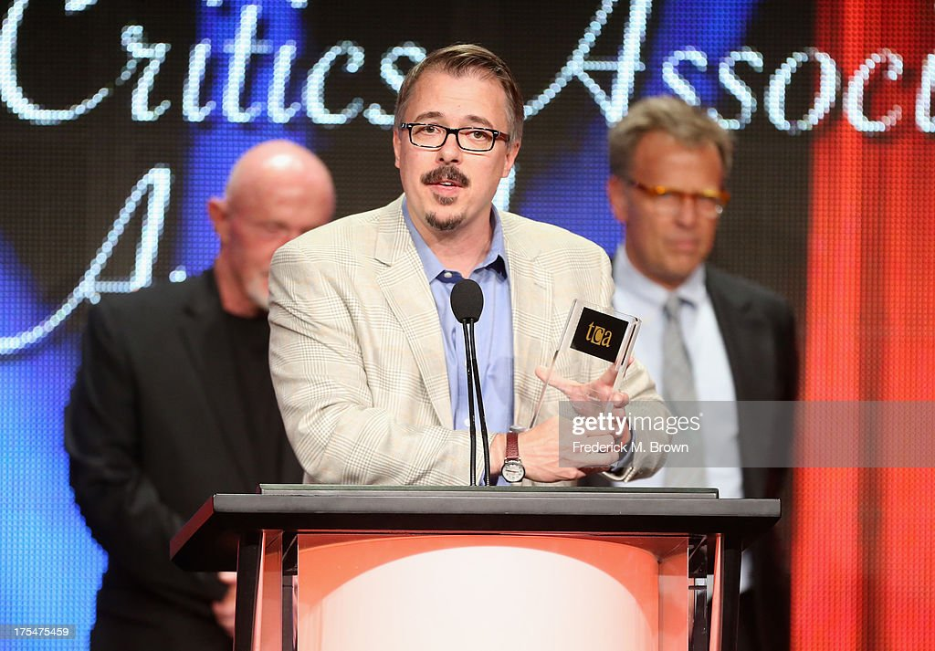 Creator/Director <a gi-track='captionPersonalityLinkClicked' href=/galleries/search?phrase=Vince+Gilligan&family=editorial&specificpeople=4360133 ng-click='$event.stopPropagation()'>Vince Gilligan</a> attends the 29th Annual Television Critics Association Awards at the Beverly Hilton Hotel on August 3, 2013 in Beverly Hills, California.