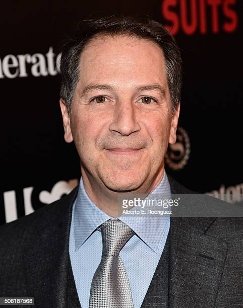 Creator/executive producer Aaron Korsh attends the premiere of USA Network's 'Suits' Season 5 at the Sheraton Los Angeles Downtown Hotel on January...