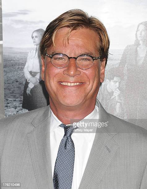 Creator/Executive Producer Aaron Sorkin arrives at the Los Angeles Season 2 Premiere Of HBO's Series 'The Newsroom' at Paramount Studios on July 10...