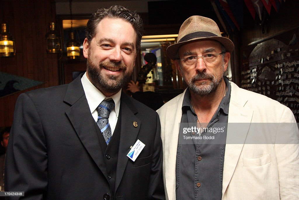 Creator/Executive Producer Brent Roske (L) and actor Richard Schiff attend the 'Chasing The Hill' reception held at the Pacific Mariners Yacht Club on June 12, 2013 in Marina del Rey, California.
