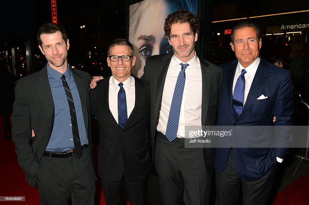 Creator/Executive Producer D.B. Weiss, President HBO Programming Mike Lombardo, Creator/ Executive Producer David Benioff, and CEO, HBO Richard Plepler arrives to HBO's 'Game Of Thrones' Los Angeles Premiere at TCL Chinese Theatre on March 18, 2013 in Hollywood, California.