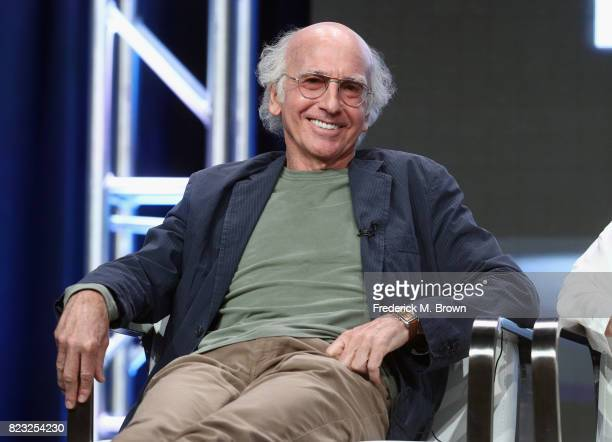 Creator/executive producer Larry David of 'Curb Your Enthusiam' speaks onstage during the HBO portion of the 2017 Summer Television Critics...