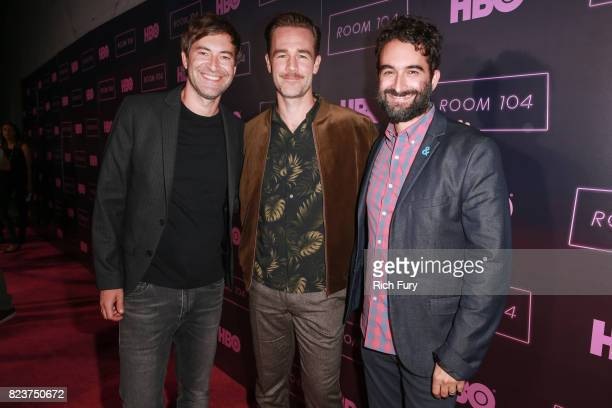 Creator/executive producer Mark Duplass actor James Van Der Beek and creator/executive producer Jay Duplass attend the premiere Of HBO's 'Room 104'...