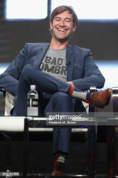 Creator/executive producer Mark Duplass of 'Room 104' speak onstage during the HBO portion of the 2017 Summer Television Critics Association Press...