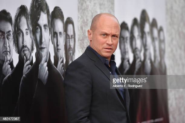 Creator/Executive Producer Mike Judge attends the Premiere of HBO's 'Silicon Valley' at Paramount Studios on April 3 2014 in Hollywood California