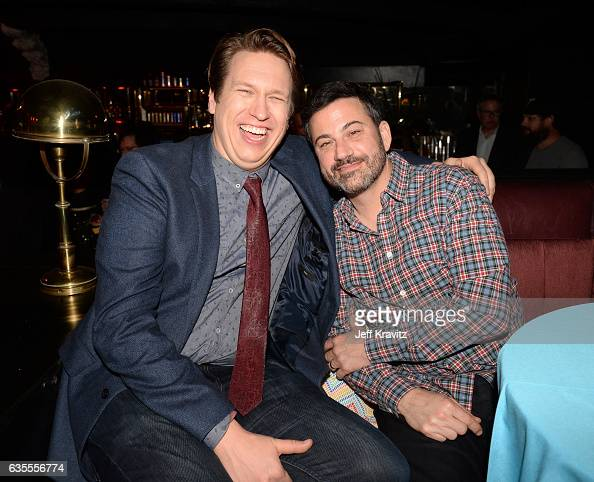 Creator/Executive Producer Pete Holmes and TV personality Jimmy Kimmel attend HBO's 'Crashing' premiere and after party on February 15 2017 in Los...