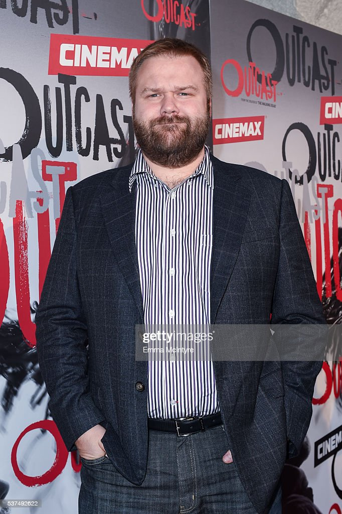 Creator/executive producer Robert Kirkman arrives at the premiere of Cinemax's 'Outcast' on June 1, 2016 in Los Angeles, California.