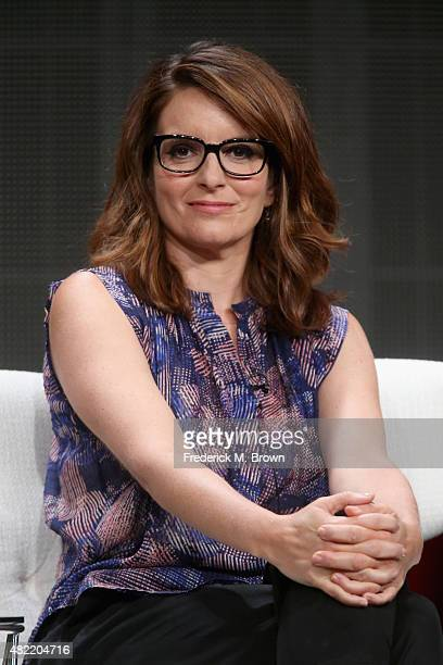 Creator/executive producer Tina Fey speaks onstage during the 'Unbreakable Kimmy Schmidt' panel discussion at the Netflix portion of the 2015 Summer...