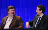 Creator/executive producers Carter Bays and Craig Thomas on stage at The Paley Center For Media's PaleyFest 2014 Honoring 'How I Met Your Mother'...