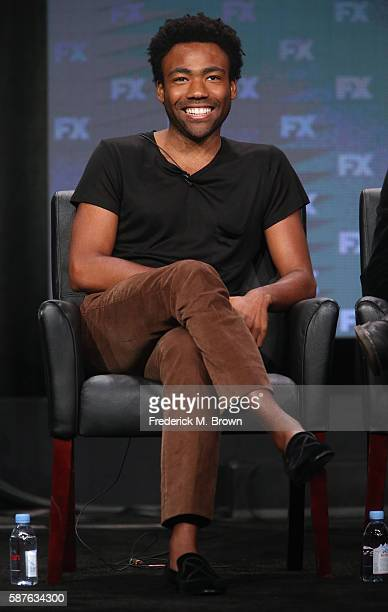 Creator/executive producer/writer/actor Donald Glover speaks onstage at 'Atlanta' panel discussion during the FX portion of the 2016 Television...
