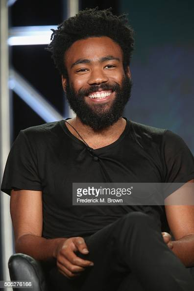 Creator/Executive Producer/Writer/Actor Donald Glover speaks onstage during the 'Atlanta' panel discussion at the FX portion of the 2015 Winter TCA...
