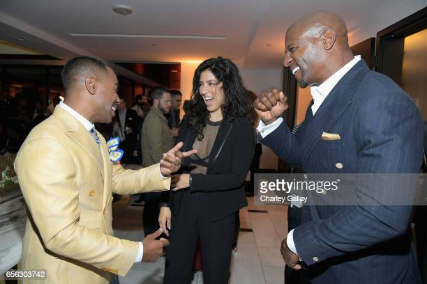 Creator/Host Prentice Penny Actors Stephanie Beatriz and Terry Crews at truTV's 'Upscale with Prentice Penny' Premiere at The London Hotel on March...