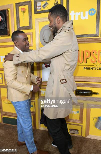 Creator/Host Prentice Penny and actor Jay Ellis at truTV's 'Upscale with Prentice Penny' Premiere at The London Hotel on March 21 2017 in West...