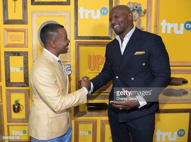 Creator/Host Prentice Penny and Actor Terry Crews at truTV's 'Upscale with Prentice Penny' Premiere at The London Hotel on March 21 2017 in West...
