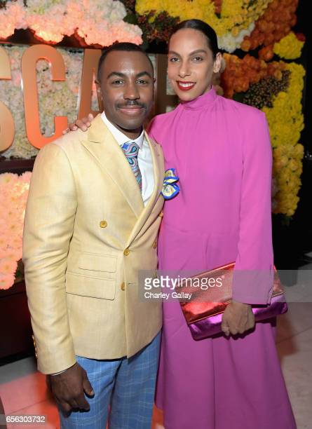Creator/Host Prentice Penny and director Melina Matsoukas at truTV's 'Upscale with Prentice Penny' Premiere at The London Hotel on March 21 2017 in...