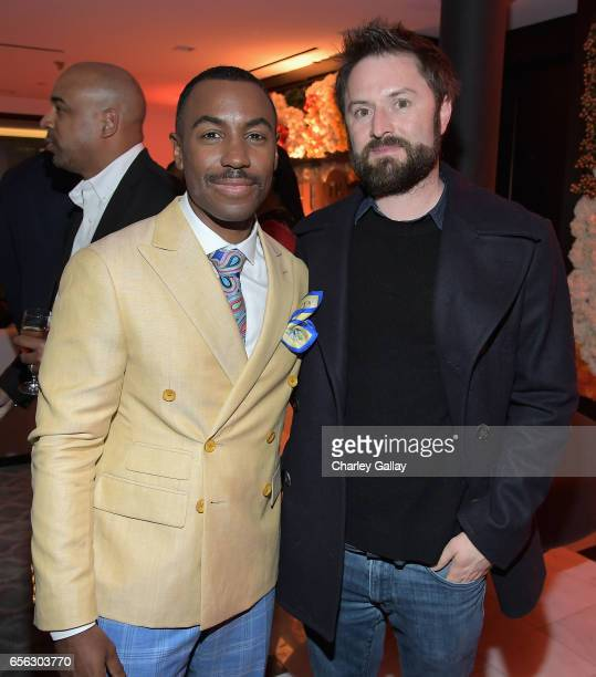 Creator/Host Prentice Penny and Writer/actor Adam CaytonHolland at truTV's 'Upscale with Prentice Penny' Premiere at The London Hotel on March 21...