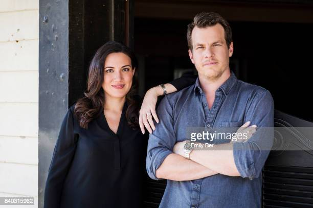 Creators and directors Jonathan Nolan and Lisa Joy of HBO's 'Westworld' are photographed for New York Times on September 21 2016 in Santa Clarita...