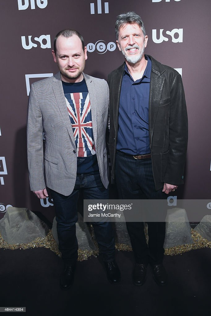 Creators, Gideon Raff and Tim Kring attend 'Dig' Series New York Premiere at Capitale on February 25, 2015 in New York City.