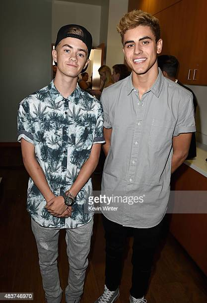 Creators Jack Jack attend The 5th Annual Streamy Awards Nomination Celebration at Annenberg Community Beach House on August 12 2015 in Santa Monica...