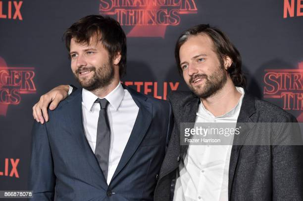 Creators Ross Duffer and Matt Duffer attend the premiere of Netflix's 'Stranger Things' Season 2 at Regency Bruin Theatre on October 26 2017 in Los...