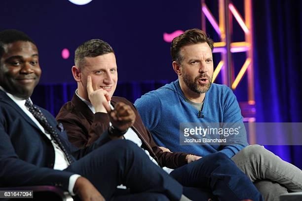 Creators/executive producers/actors Sam Richardson and Tim Robinson and executive producer/actor Jason Sudeikis of the series 'Detroiters' speak...