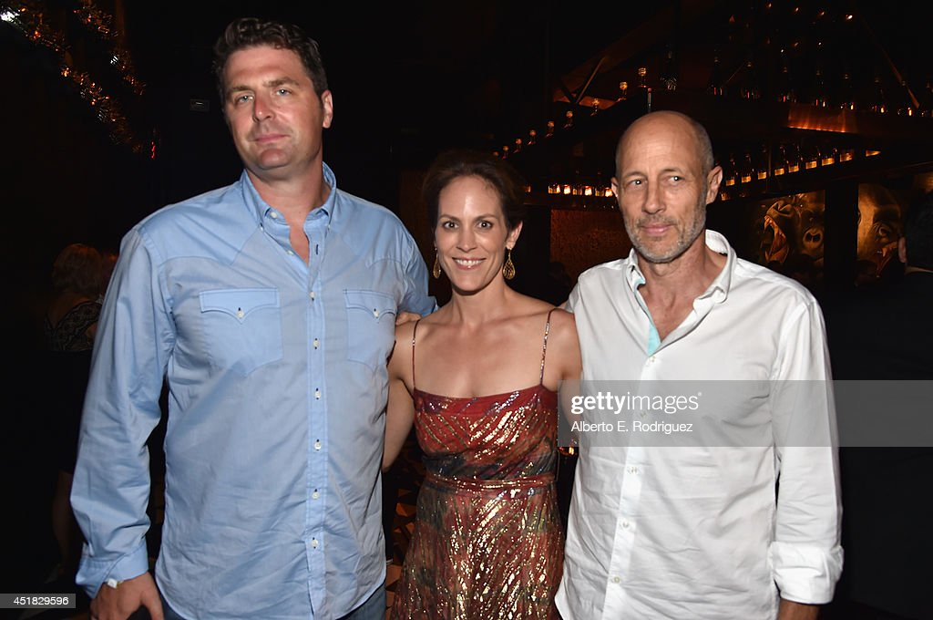 Creator/writer Elwood Reid, actress Annabeth Gish and actor Jon Gries attend the after party for the season premiere of FX's 'The Bridge' at the Pacific Design Center on July 7, 2014 in West Hollywood, California.