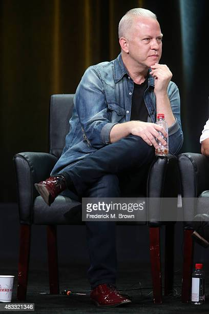Creator/writer/director Ryan Murphy speaks onstage during the 'AHS Hotel' panel discussion at the FX portion of the 2015 Summer TCA Tour at The...