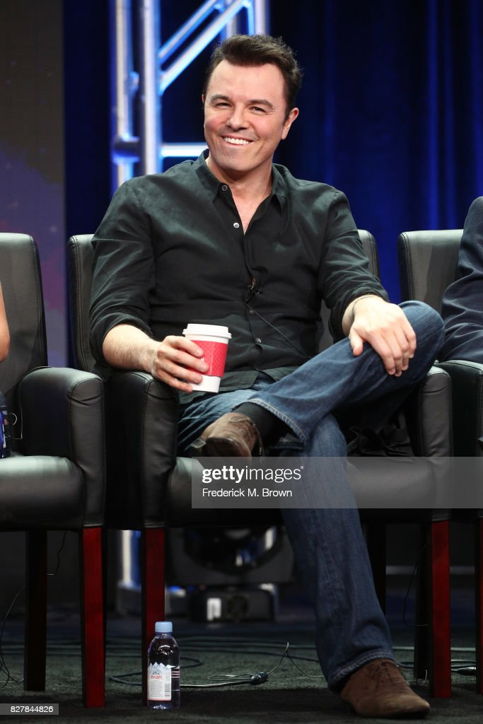 Creator/Writer/EP/Actor Seth MacFarlane of 'The Orville' speaks onstage during the FOX portion of the 2017 Summer Television Critics Association Press Tour at The Beverly Hilton Hotel on August 8, 2017 in Beverly Hills, California.