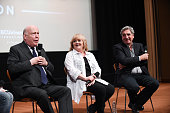 Creator/writer/executive producer Julian Fellowes and actors Lesley Nicol and Jim Carter speak onstage at the 'Downton Abbey' For Your Consideration...