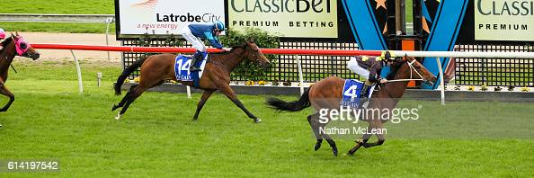 Credible Witness ridden by Damian Lane wins Latrobe City Maiden Plate at Moe Racecourse on October 13 2016 in Moe Australia