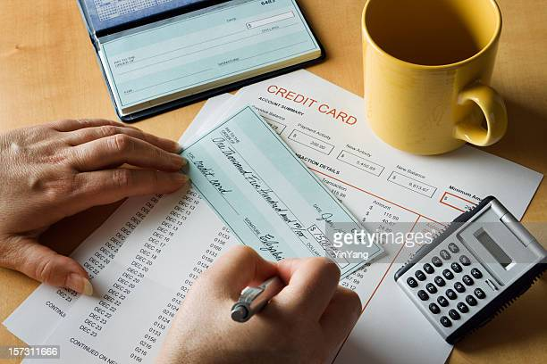Credit Card Debt and Home Finance Bill Paying with Checks
