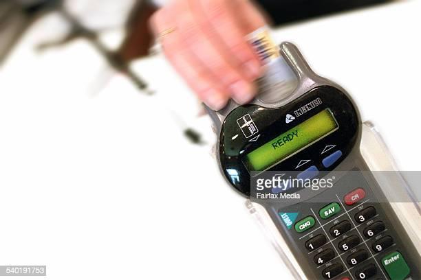 A credit card in an eftpos machine