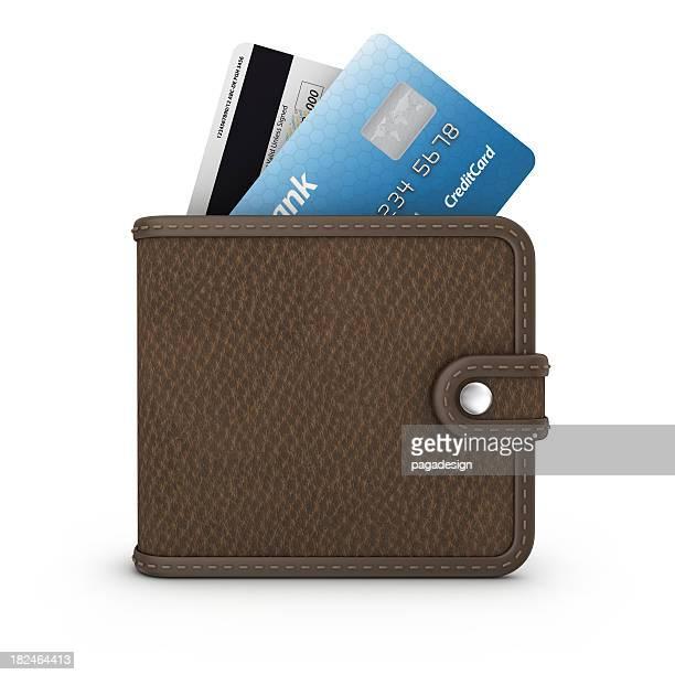 Kreditkarte in Brieftasche