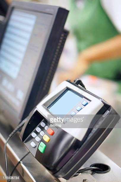 Credit card machine in store